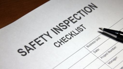 A safety inspection checklist used as a decorative image.